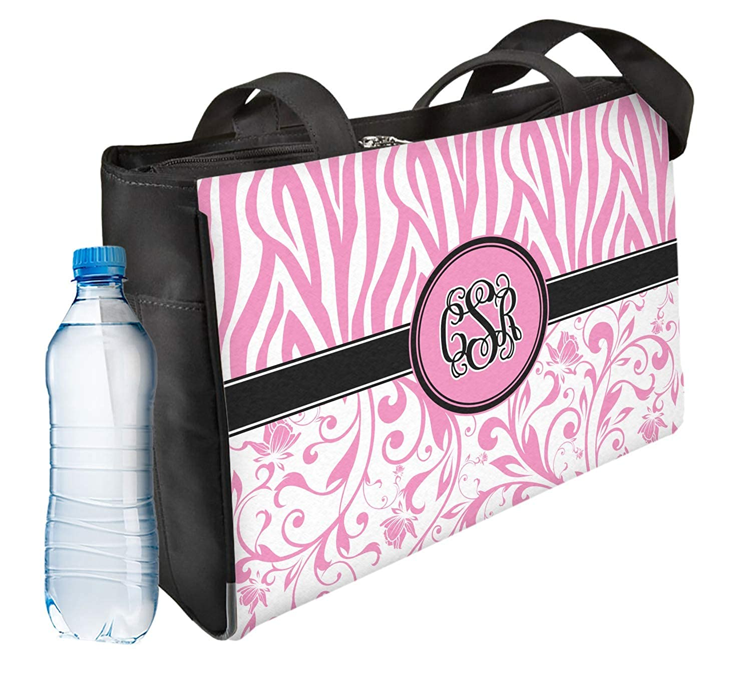 Front /& Back Zebra /& Floral Ladies Workout Bag Personalized