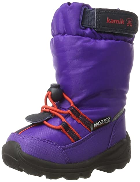 Kamik NK9446 Botas De Nieve de Material Sintético para Niños, color violeta, talla 26
