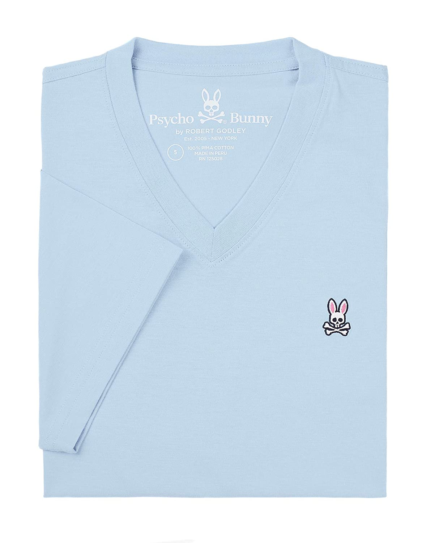 Cool bleu XXS Psycho Bunny T-Shirt Classique col en V pour Homme