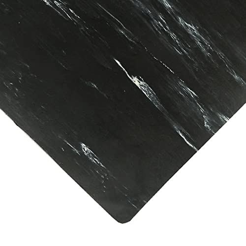 NoTrax Rubber 970 Marble Sof-Tyle Grande Anti-Fatigue Mat, for Dry Areas, 2 Width x 3 Length x 1 Thickness, Black