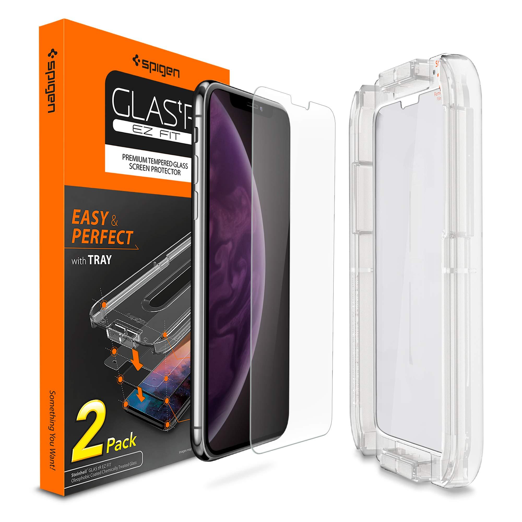 Vidrio Templado Sensor Prot. Spigen P/ iPhone Xs Max X 2