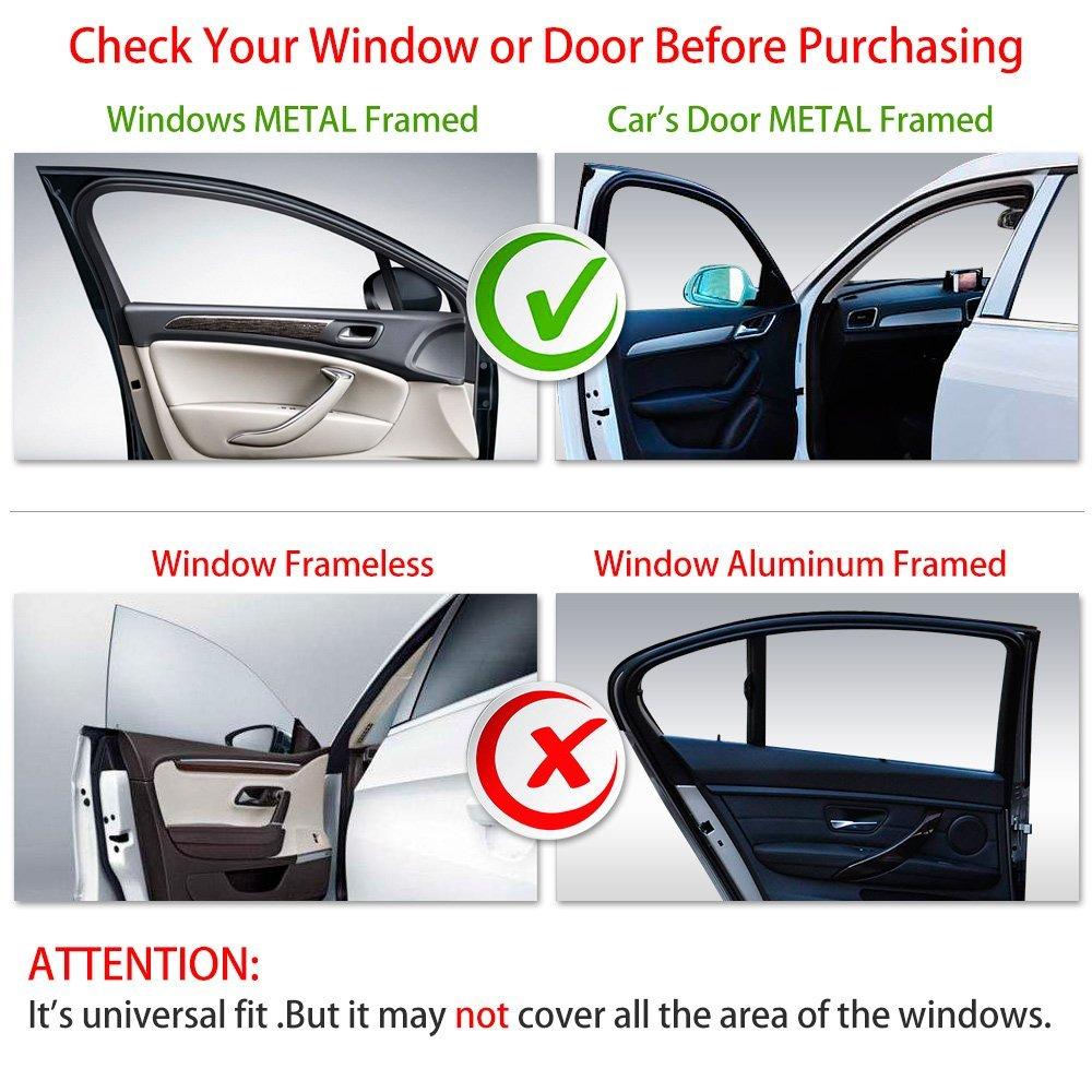 Car Sun Shade Rear Front Window Shade Side Window Sunshade Baby Front Side(2pcs)