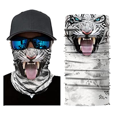 Alueeu Scarf Bandana Neck Gaiter Scarf Tube Headwear Balaclavas Dustproof Riding Windproof Uv for Outdoor Hiking Cycling: Office Products