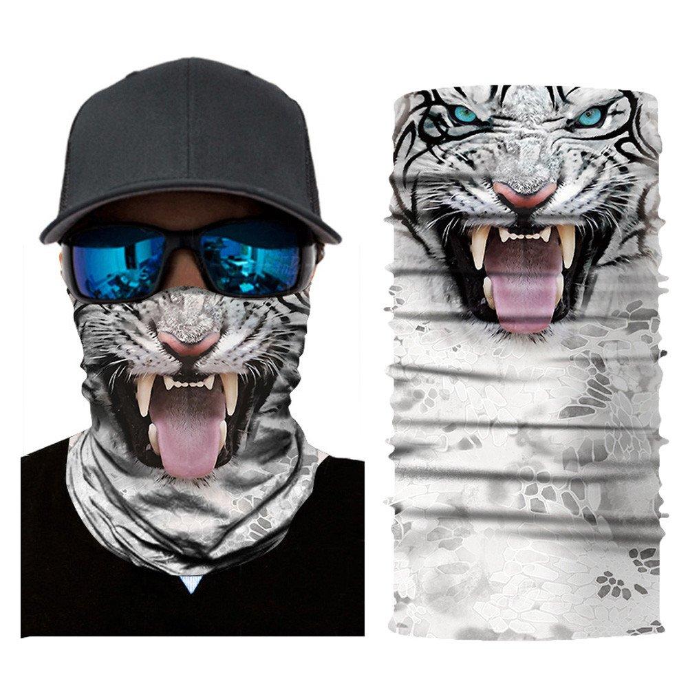 OWMEOT Stretchable Face Shield Mask Guards Balaclava Headwear for Camping,Running,Cycling, Biking, Motorcycling,Fishing,Hunting,Yard Working and Sun UV Protection (B)