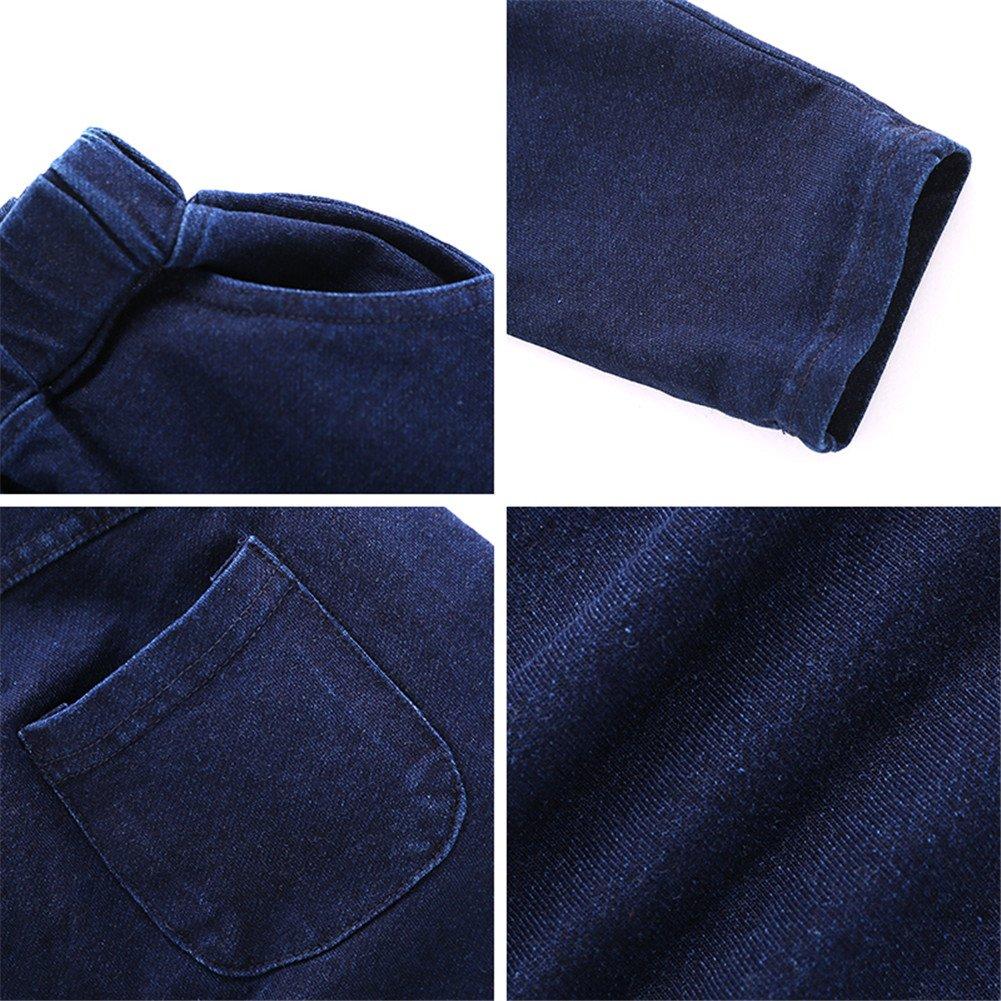 Mud Kingdom Boys Fashion Loose Fit Jeans Cozy Baby Harem Pants