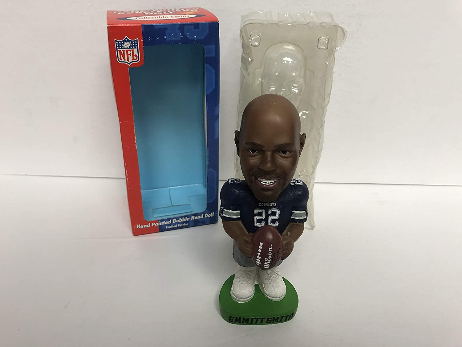 Emmitt Smith Dallas Cowboys Legend NFL Limited Edtion Bobblehead holding Football