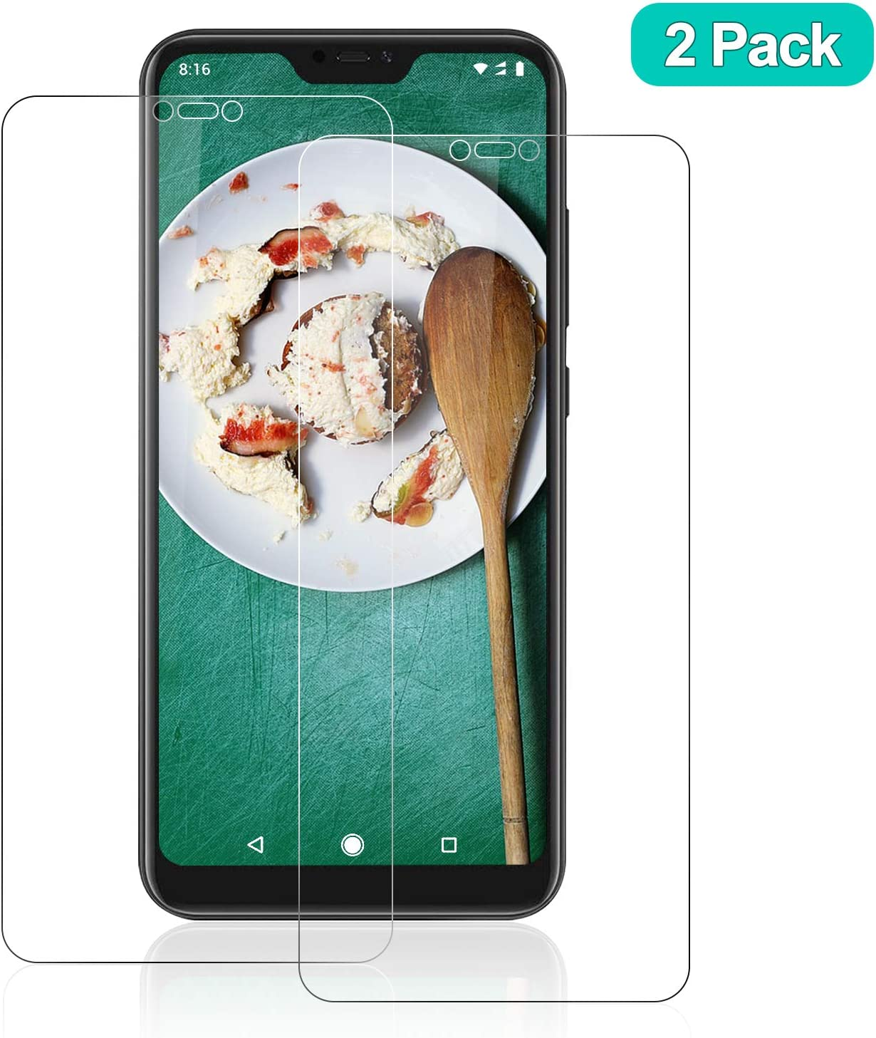 SNUNGPHIR® Protector Pantalla para Xiaomi Mi A2 Lite Cristal Templado Protector de Pantalla HD Clear 9H Dureza Anti-Rasguños Anti-Huellas Dactilares Libre de Burbujas 3D Touch (2 Piezas)