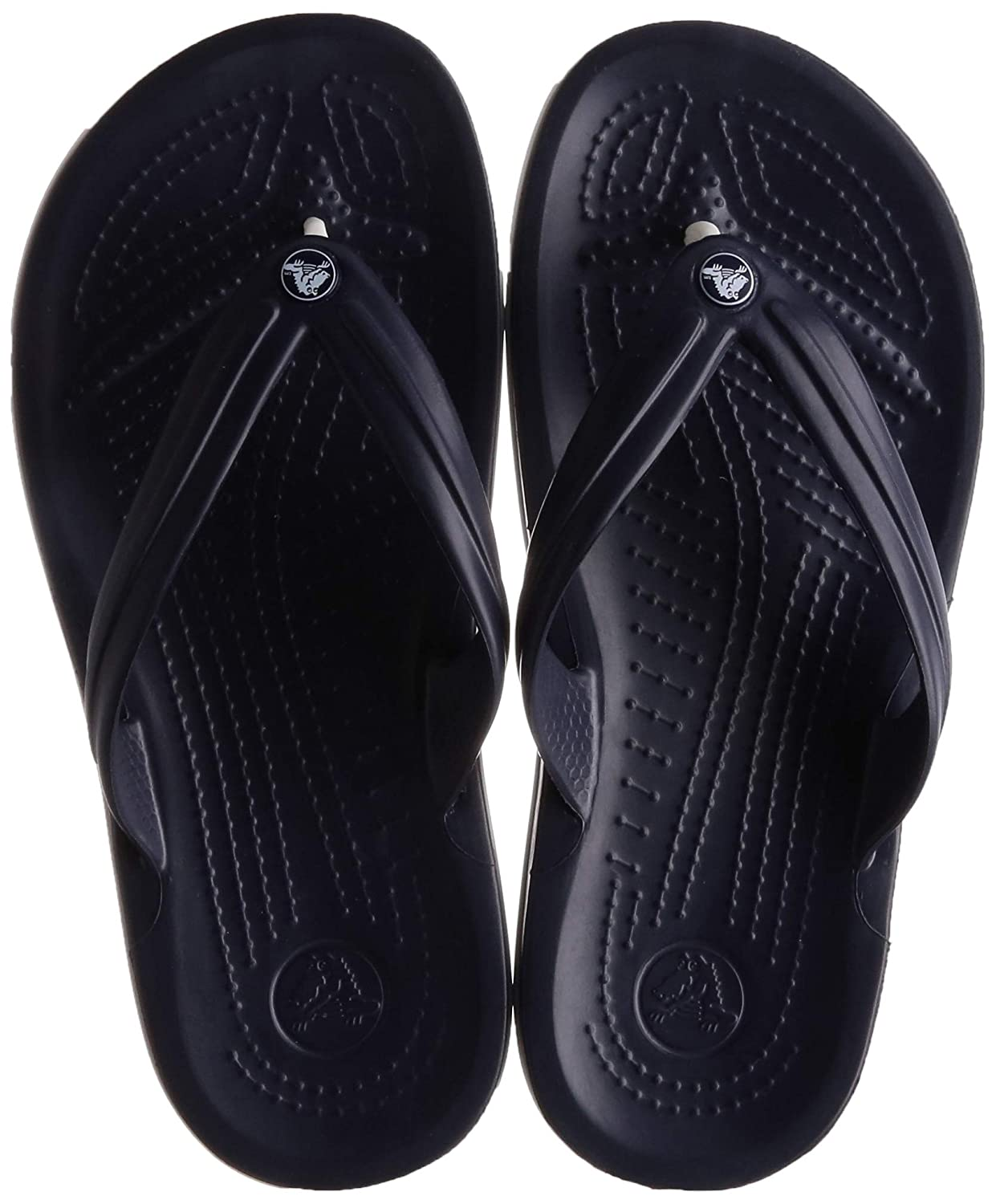 26b1a52e3471 crocs Unisex Crocband Navy Flip Flops and House Slippers  Buy Online at Low  Prices in India - Amazon.in