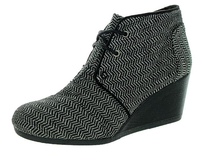 473ad93450a Toms Desert Wedge Black Herringbone - 4    Amazon.co.uk  Shoes   Bags