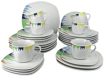 Steinmann Kombiservice U0027Happy Coloru0027 / Geschirrset 30 Teilig Porzellan    Geschirr Set Im
