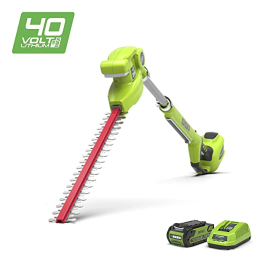 Greenworks 40V Cordless Longreach Hedge Trimmer with 2Ah battery and charger - 22147TUA