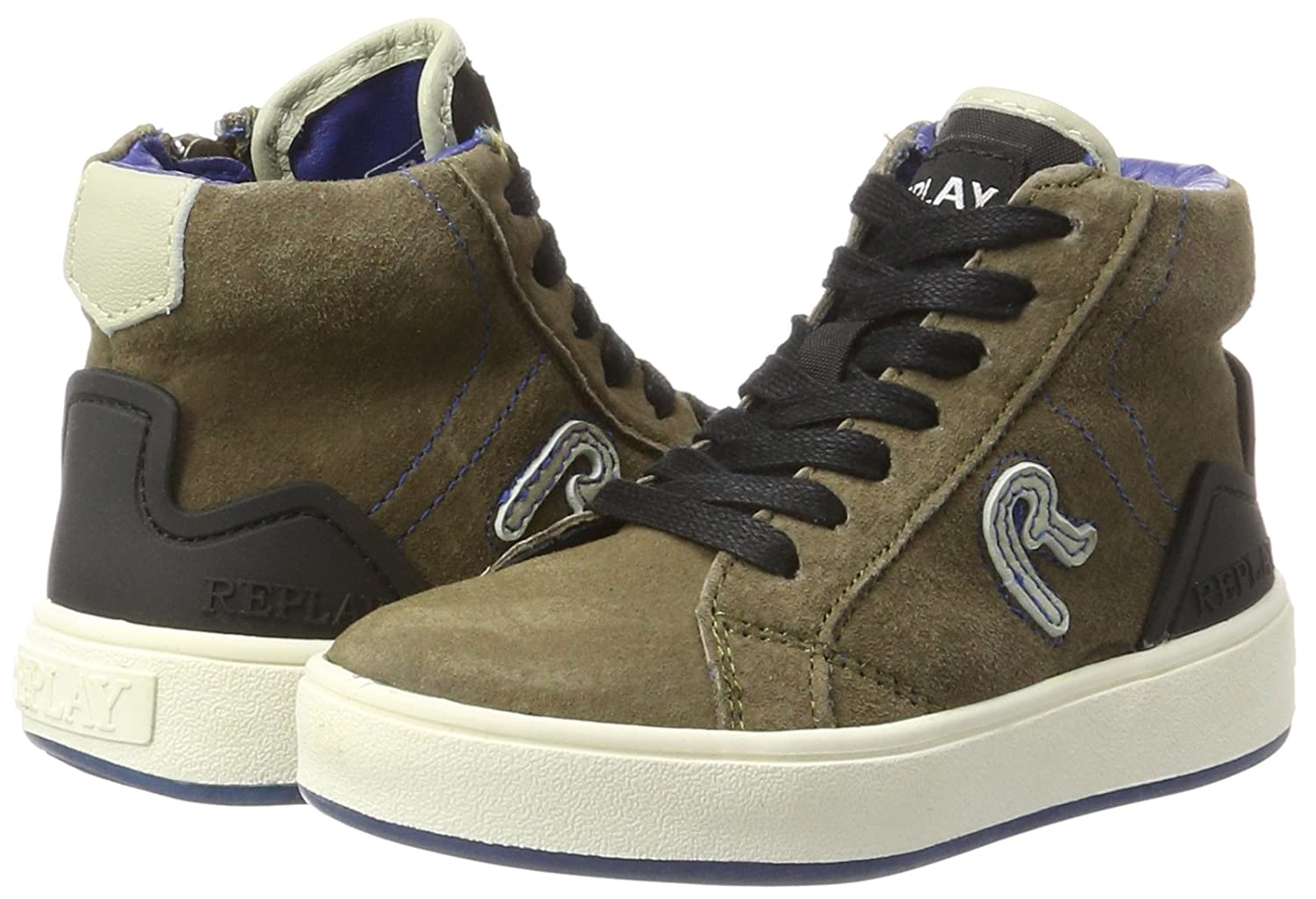 Replay Boys INXS Hi-Top Trainers