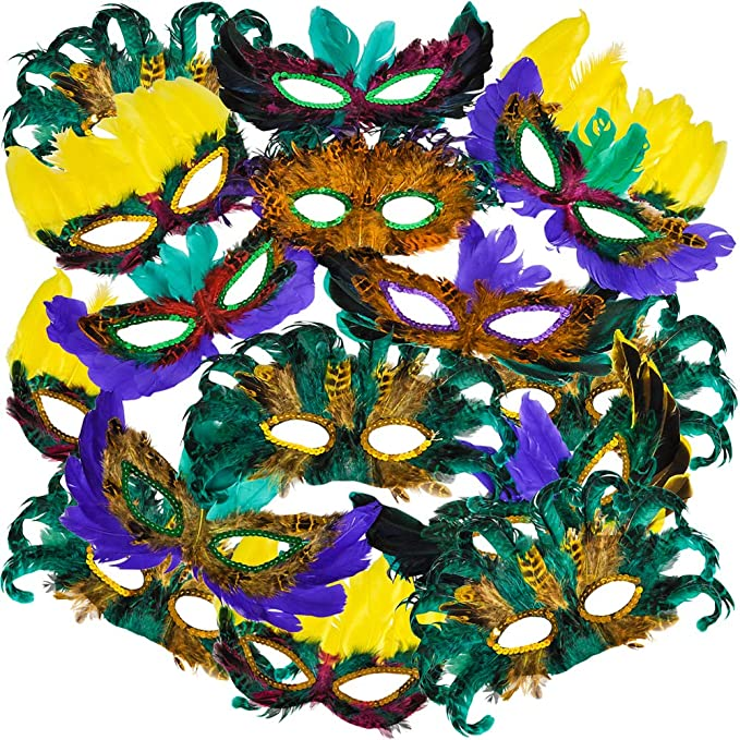 """50/"""" Party Beads Mardi Gras Dress Up Halloween Adult Costume Accessory 4 COLORS"""