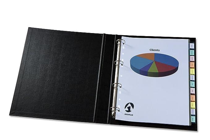 Avery Dennison 5614501 - Separador para archivadores (12 pestañas personalizables, A4, 12 separadores): Amazon.es: Oficina y papelería