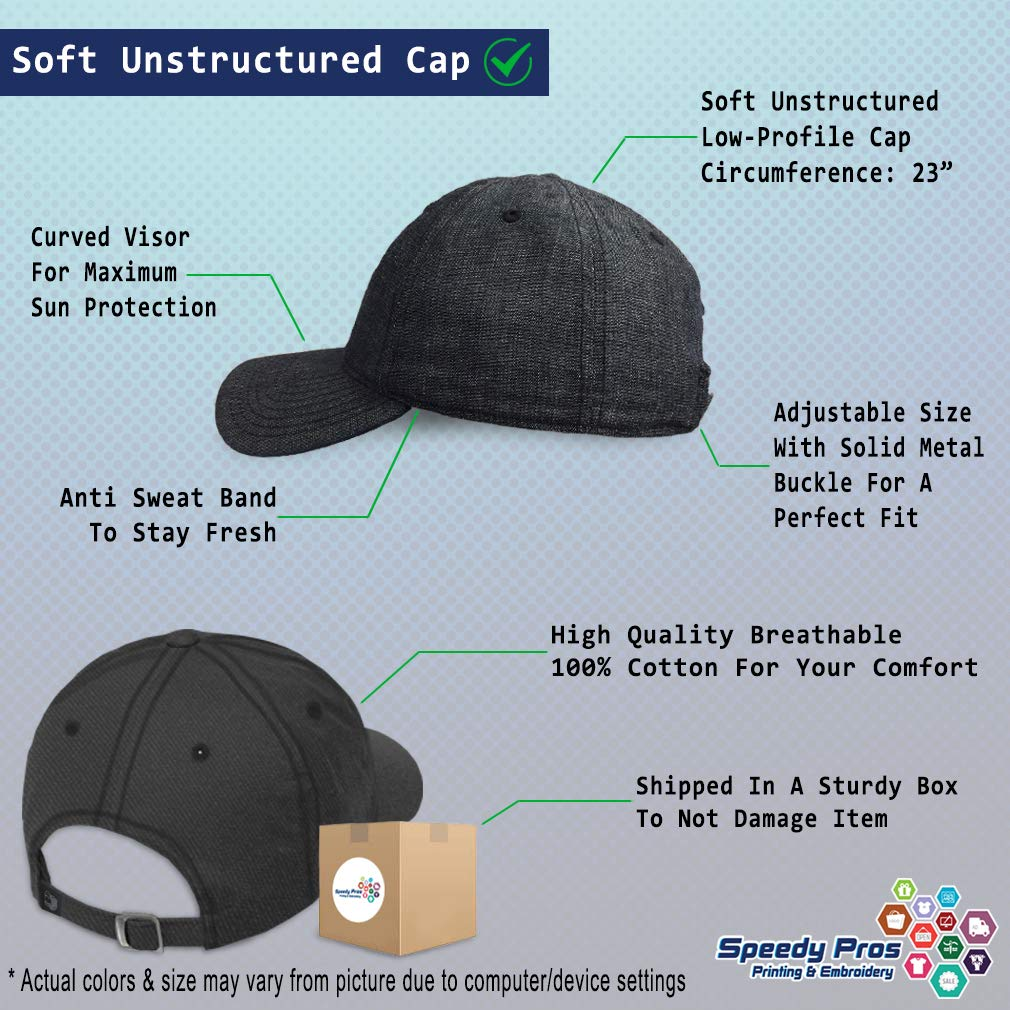 Custom Soft Baseball Cap Banjo Embroidery Twill Cotton Dad Hats for Men /& Women