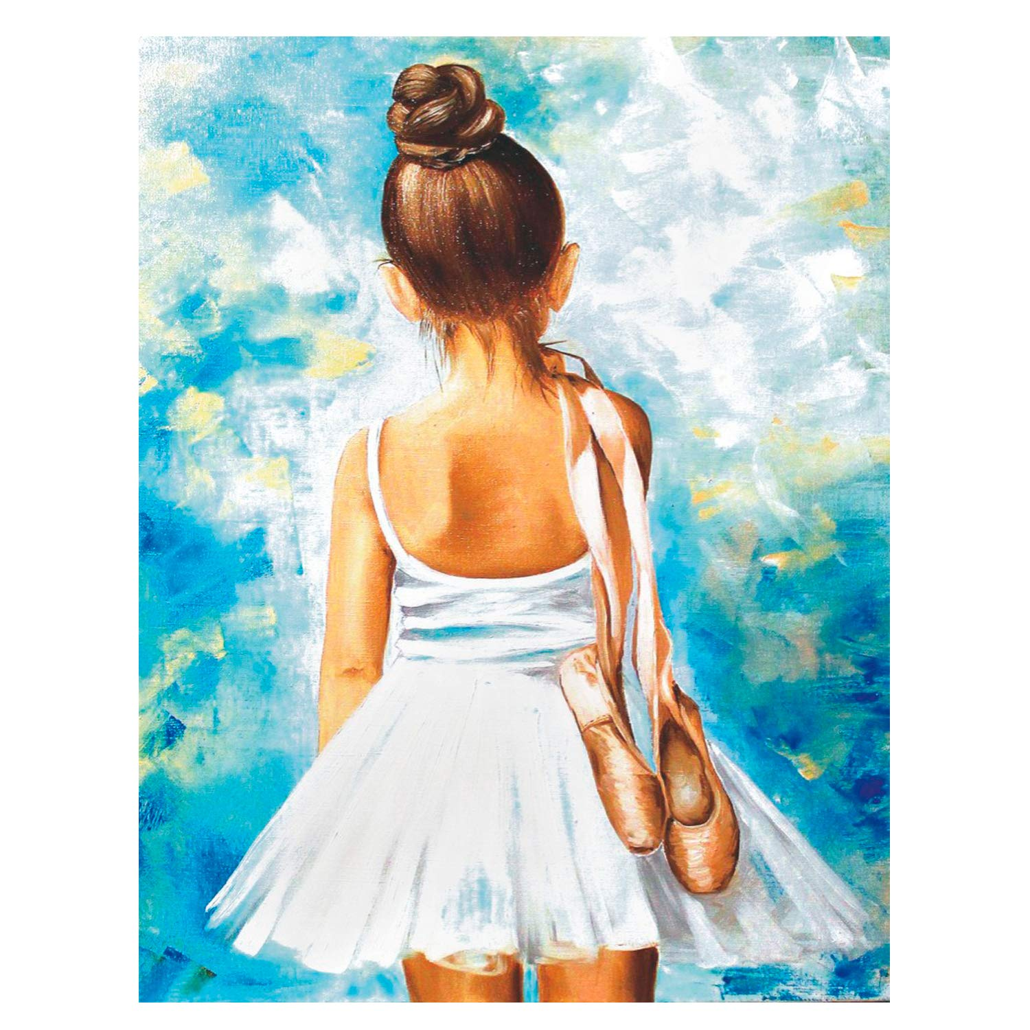 [Wooden Framed] DIY Painting, Paint by Number Kits for Adults - Little Ballerina - Includes Brushes, Paints and Numbered Canvas - 16x20 Inch - Great for Kids and Adults - by Tsvetnoy by Tsvetnoy - the world of bright ideas