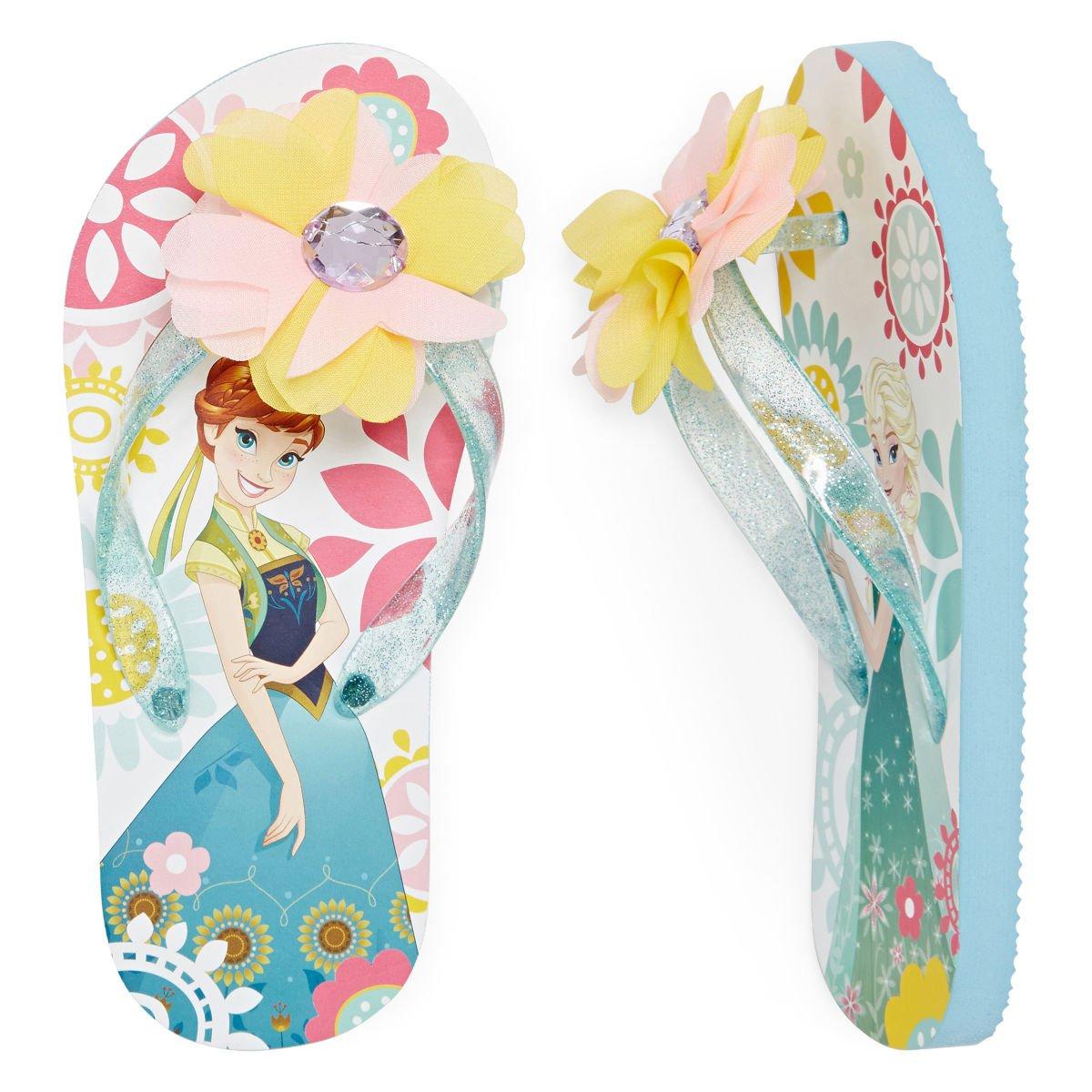 Disney Frozen Anna and Elsa Flip-Flop Sandals and Sunglasses