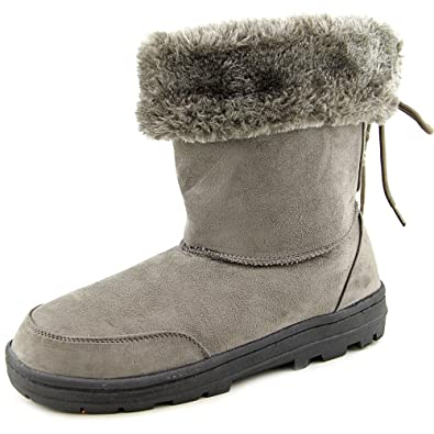 Womens Oriole Suede Closed Toe Ankle Cold Weather Grey Size 8.0