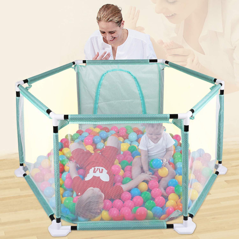 子供用フェンス 屋内および屋外 ゲームバー 安全扉 幼児 クロールフェンス  Blue B07MDKF3VJ