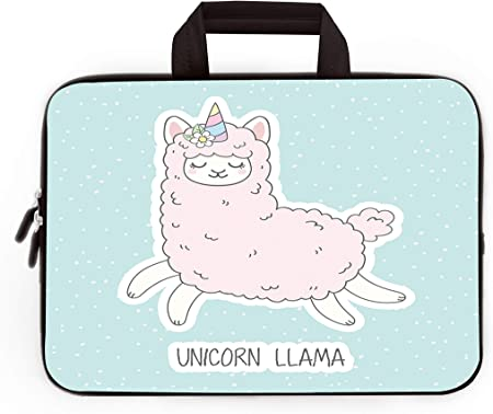 White Alpaca Pattern Laptop Sleeve Bag Fit for 10-17 Inch Netbook//Laptop Laptop Sleeve Cover