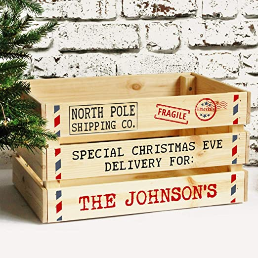 Personalised Wooden Christmas Eve Crate Box