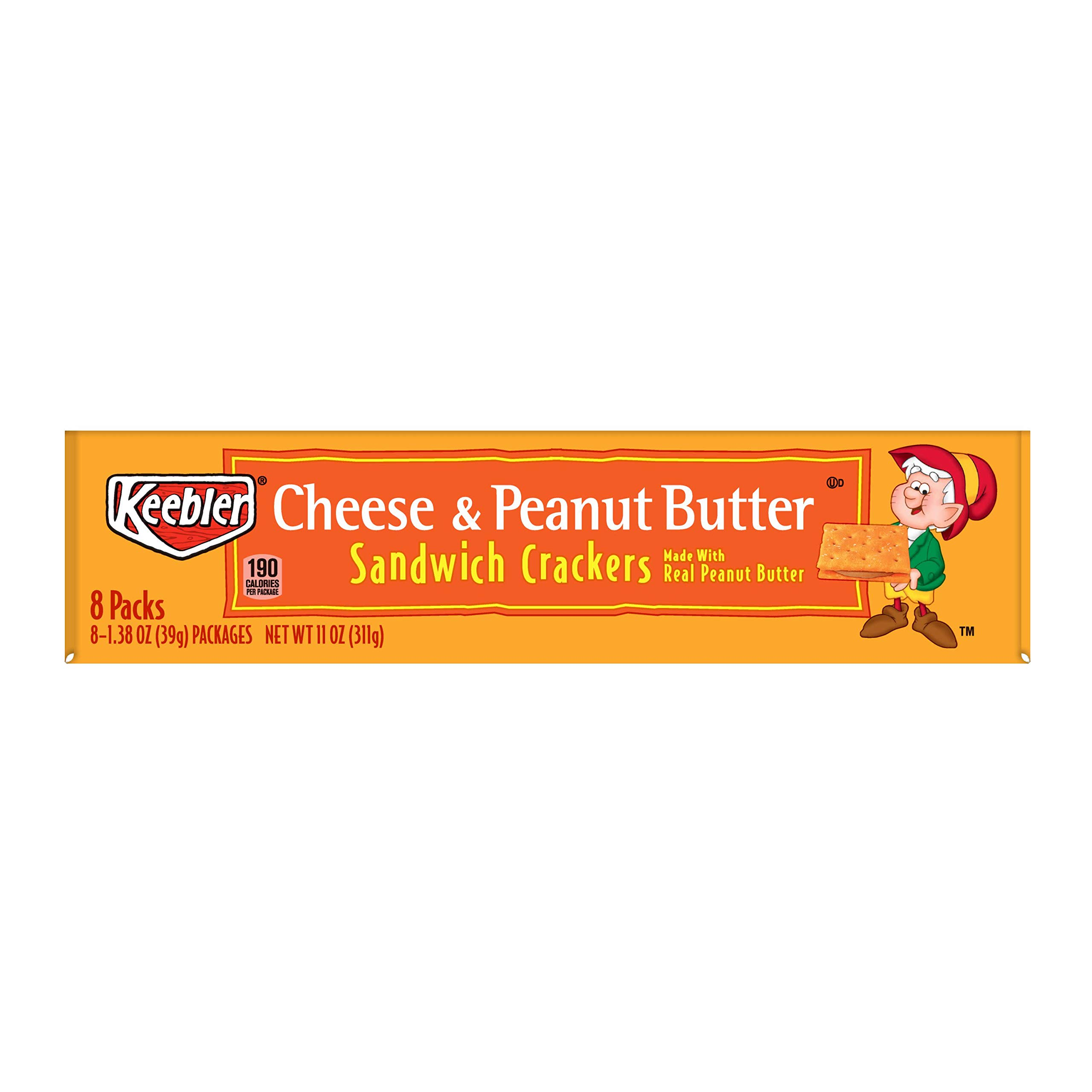 Keebler Cheese and Peanut Butter Sandwich Crackers, Single Serve, 1.38 oz Packages, 8 Count(Pack of 6) by Keebler Sandwich Crackers (Image #8)