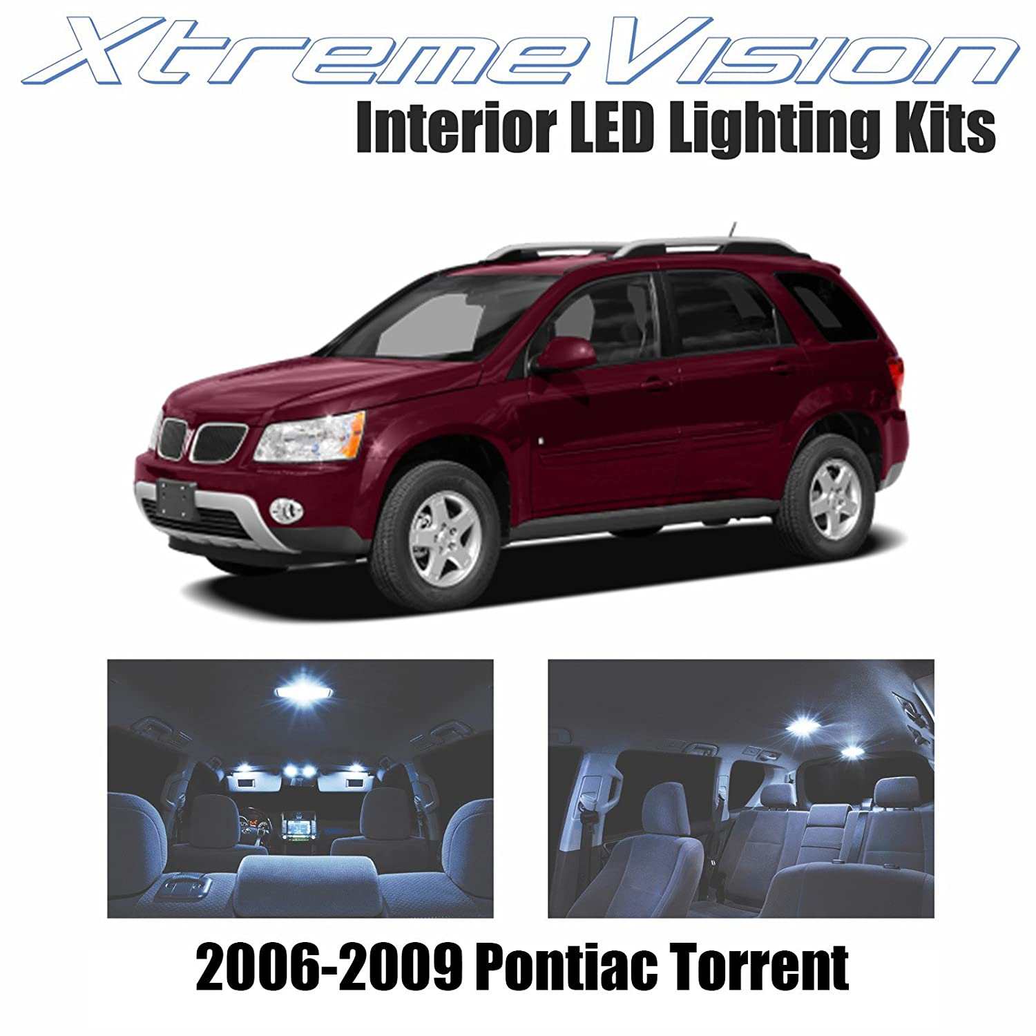 Xtremevision Interior Led For Pontiac Torrent 2006 2009 8 Pieces Cool White Interior Led Kit Installation Tool