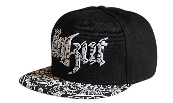 Bayto Unisex Fashion Street Hats Hip-hop Bboy Baseball Cap Paisley Print  DT019-black 19786c7f909