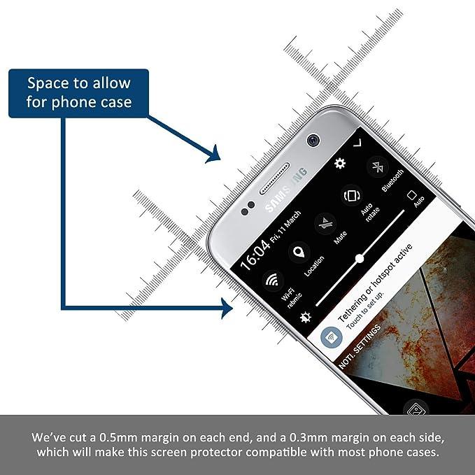 [2-Unidades] Samsung S7 Edge Cristal Templado Hepooya S7 Edge Protector de Pantalla para Samsung Galaxy S7 Edge Vidrio Templado Alta Definicion sin Burbujas ...