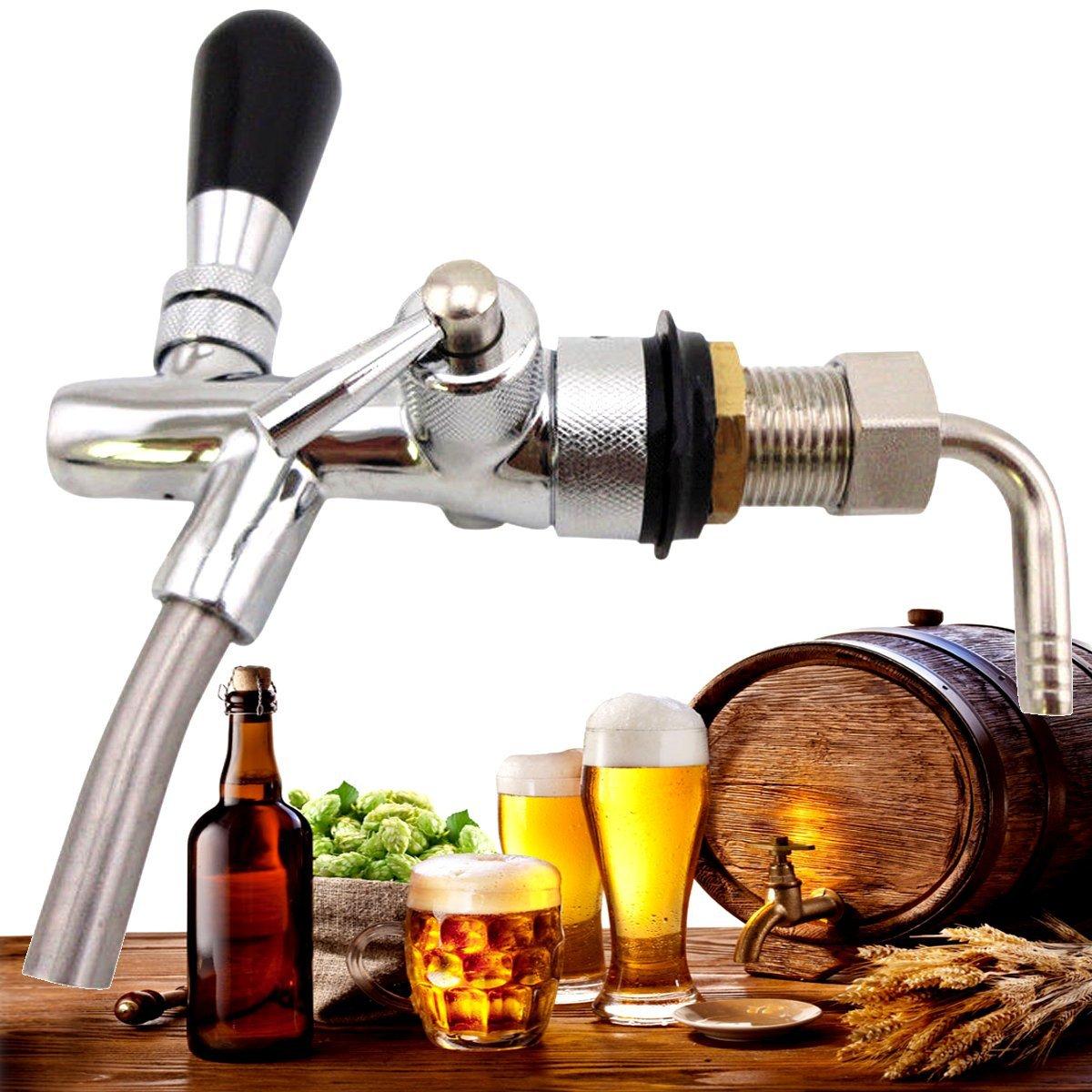 KING DO WAY Robinet De Bière En Laiton, Distributeur De Boissons, Robinet De Rechange Pour Tonneau De Bière Tireuse à Bière Cidre Fûts Boisson Robinet De Rechange Pour Tonneau De Bière Tireuse à Bière Cidre Fûts Boisson