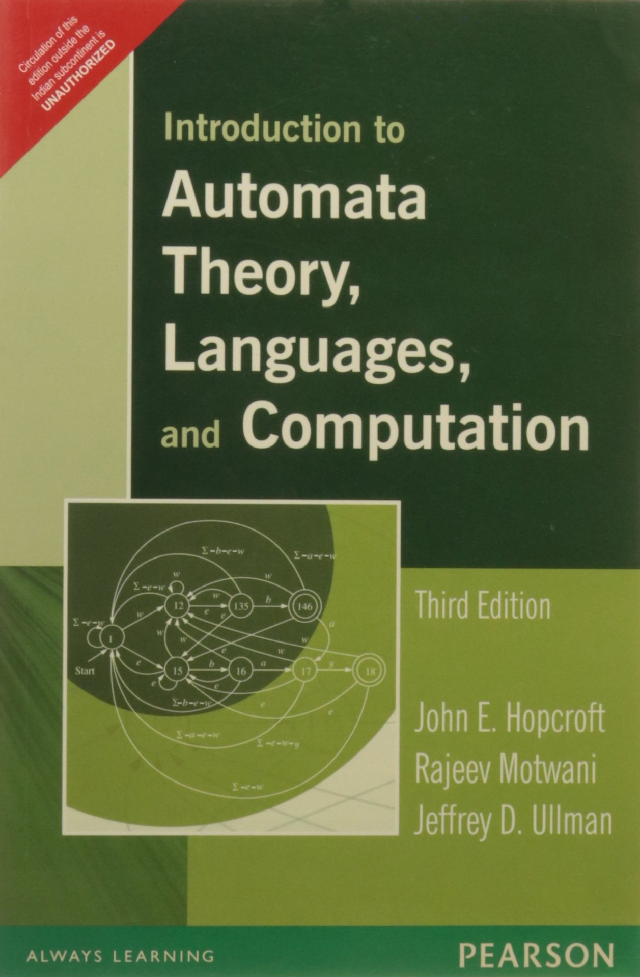Introduction to Automata Theory, Languages, and Computation by Pearson India