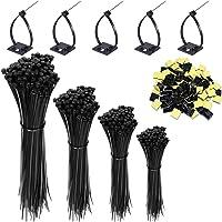 HISAYSY Kabelband, 400 st självlåsande svarta nylonkabelbuntband, premium buntbandsomslag i storlek 16,8,10, 12 tum med…