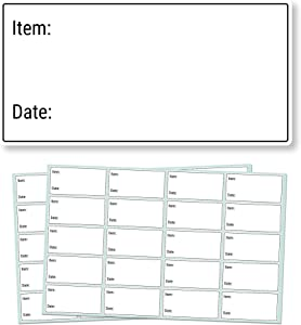 "500 Pack, 2 x 1"", Removable Food Storage Freezer/Refrigerator Date Labels Stickers"