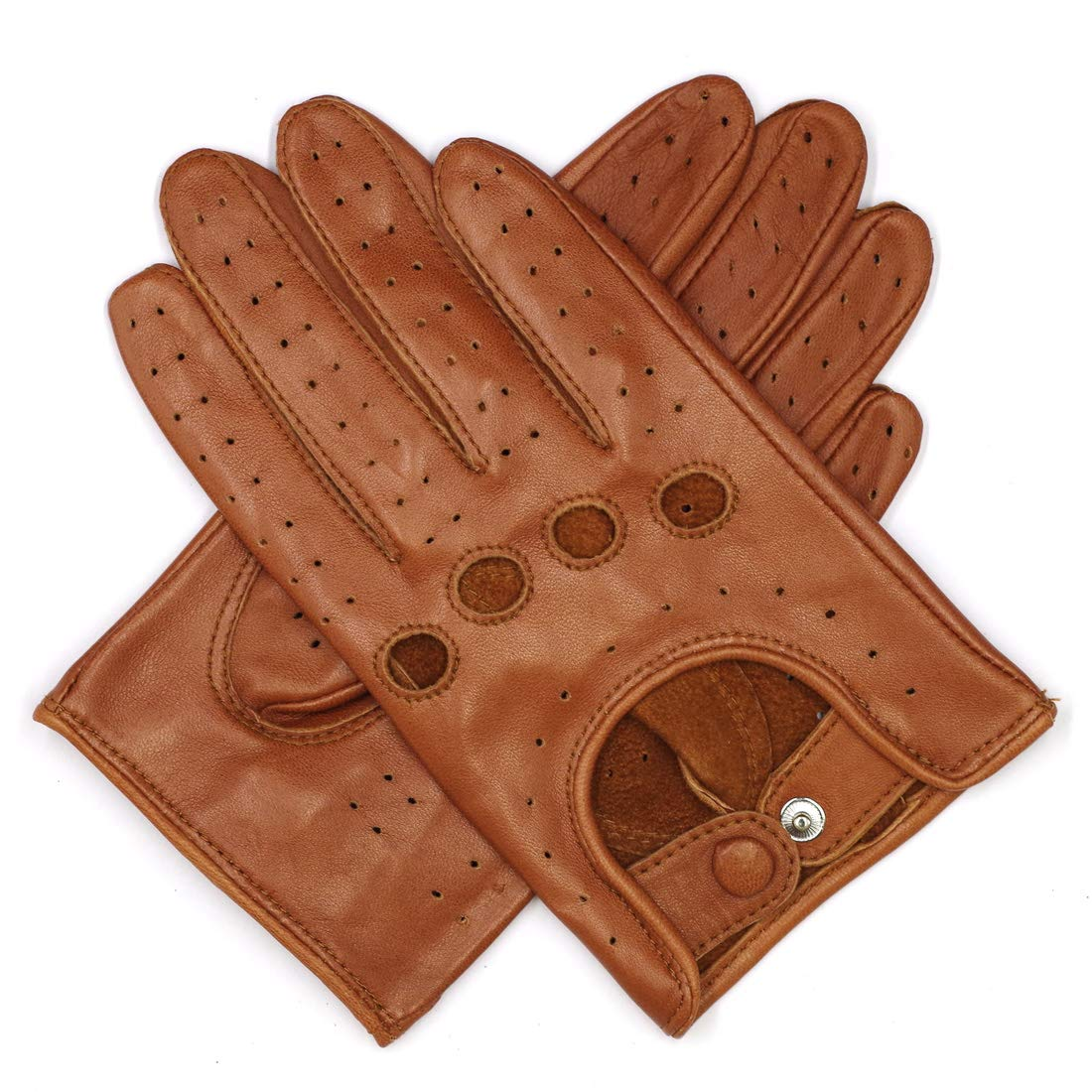 Harssidanzar Womens Leather Driving Gloves Unlined