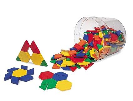 Amazon Learning Resources Plastic Pattern Blocks Set of 40 Gorgeous Pattern Blocks