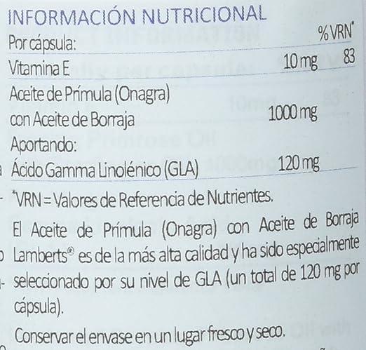 Lamberts Aceite de Prímula con Borraja 1000mg - 90 Cápsulas ...