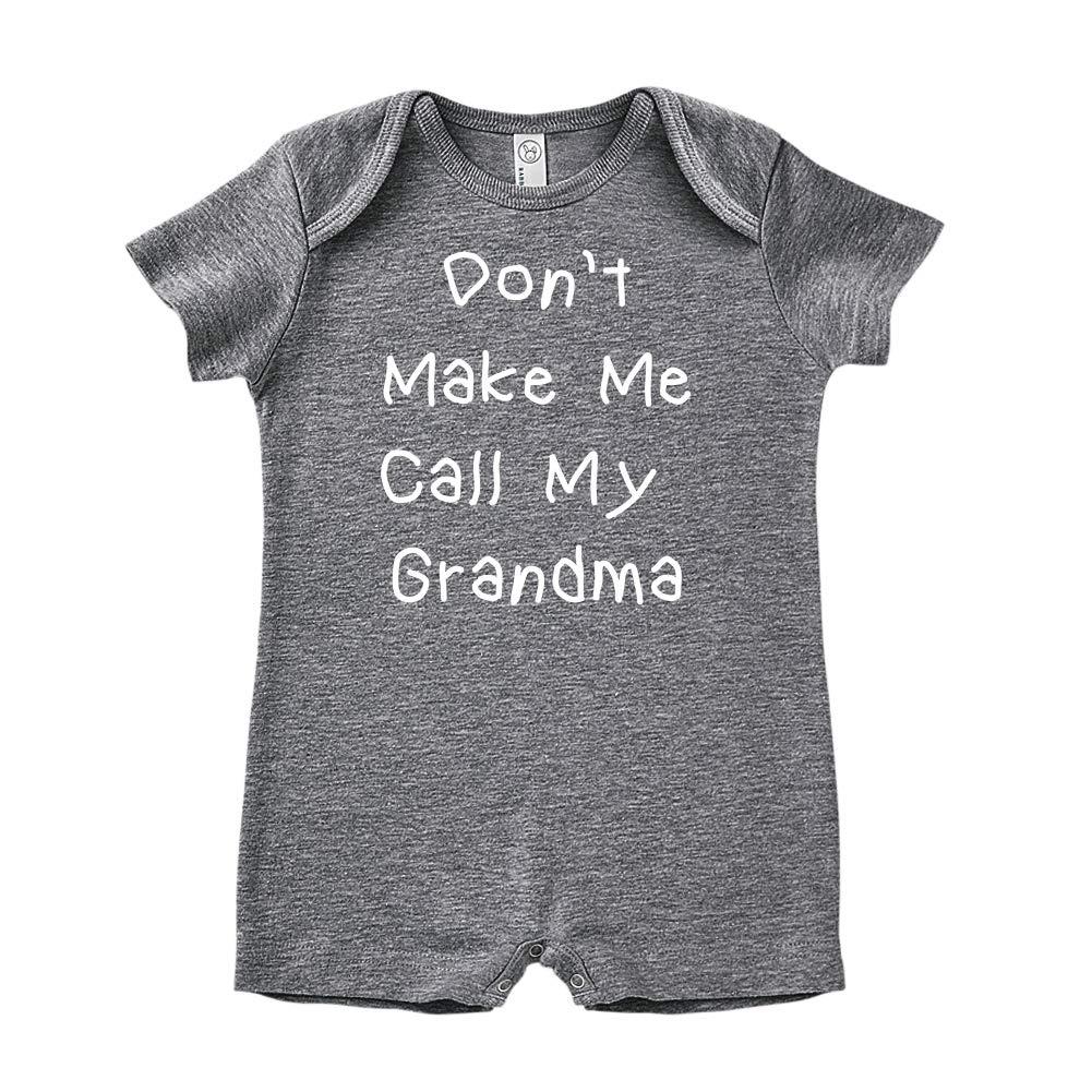 Baby Romper Mashed Clothing Dont Make Me Call My Grandma
