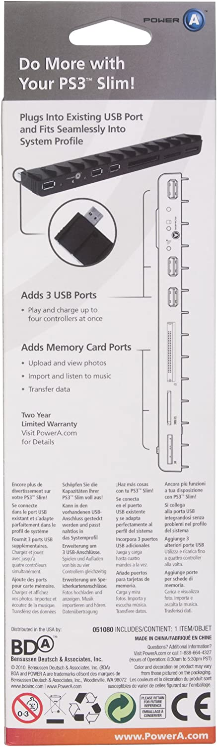 Amazon.com: POWER A Media Expansion Bar for PS3 Slim: Video ...