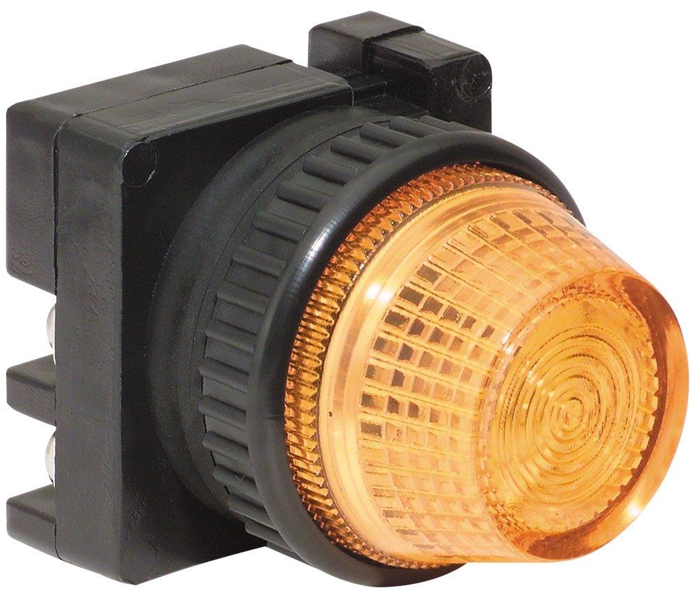 c3controls FVLU24LA-PLLAR Pilot Light, 30mm, Full Voltage 24V AC/DC, Amber LED, Amber Color Lens