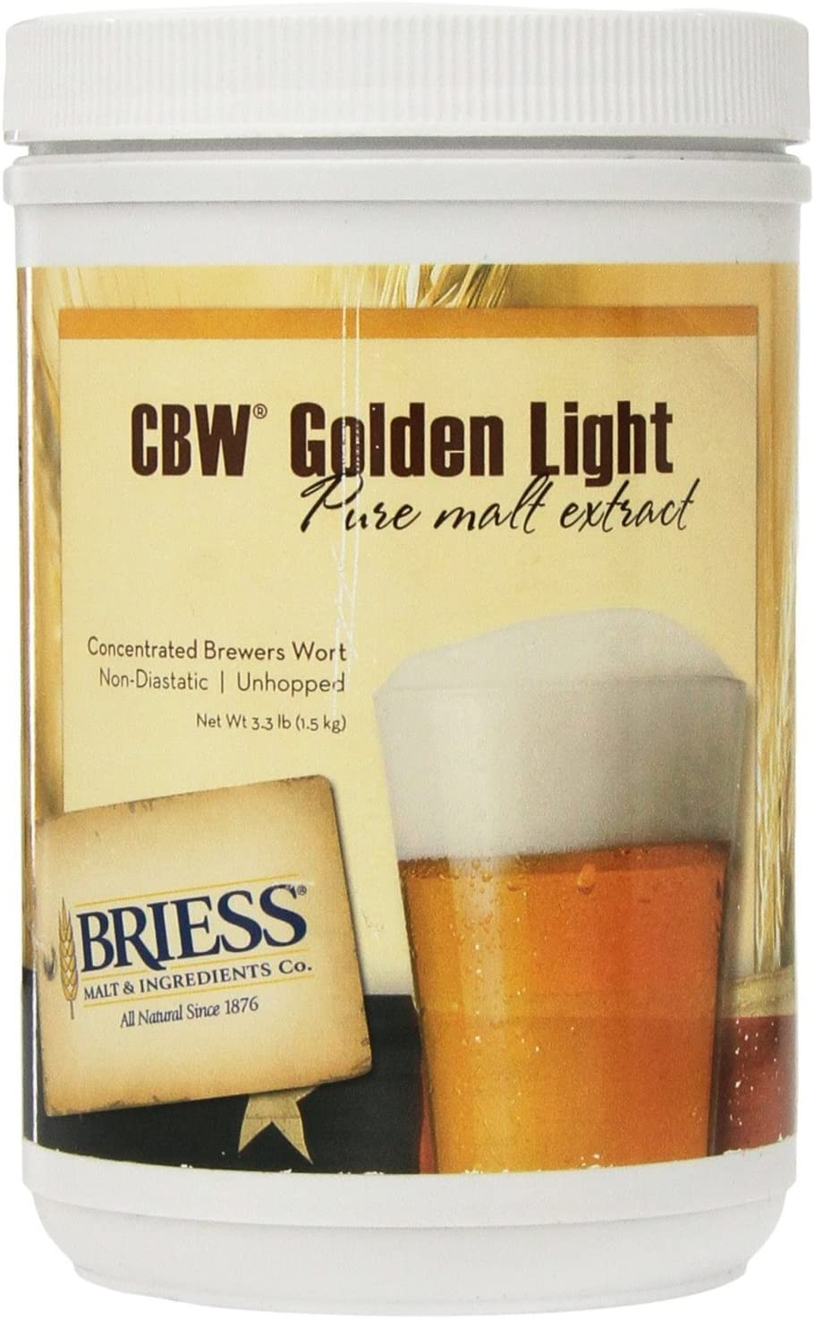 Briess CBW Golden Light Single Canister 3.3 lb