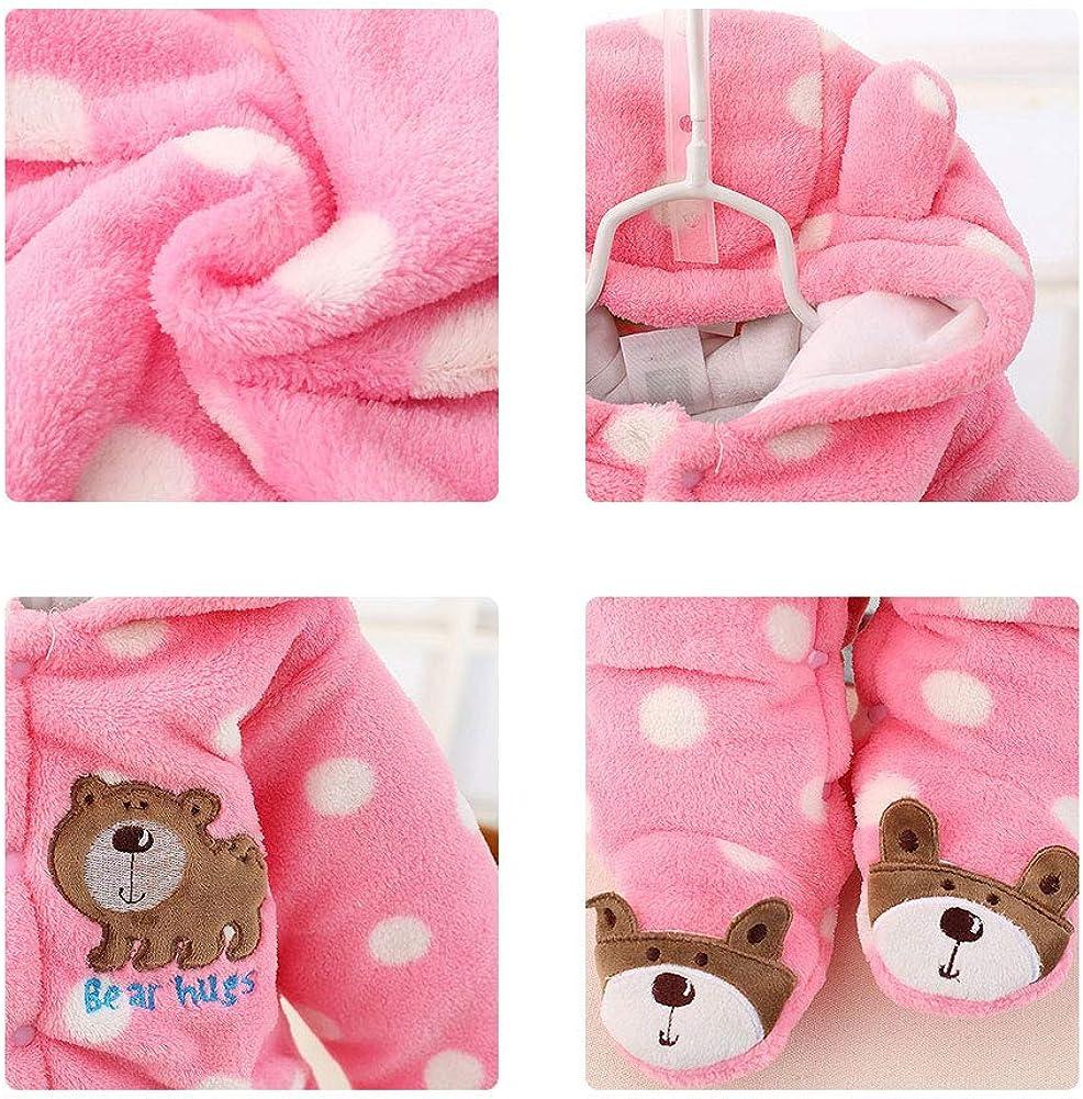 Newborn Infant Baby Hooded Romper Fleece Snowsuit Cartoon Jumpsuit Fall Winter Outfits 0-12M Fairy Baby Baby Snowsuit