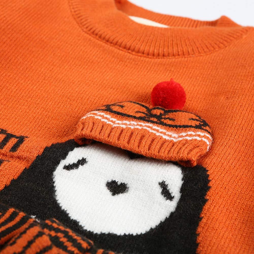 XINXINHAIHE Infant Unisex Baby Kid Knit Sweater Plus Velvet Thicken Long Sleeve Cartoon Tee