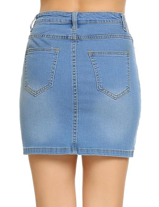 e217bc5e9da Shine Women Stretch Denim Mini Skirt at Amazon Women s Clothing store
