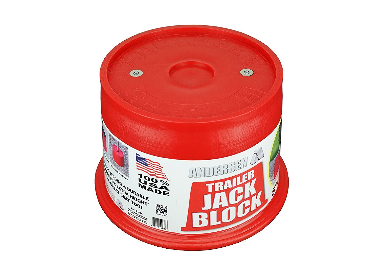 Andersen Hitches 3608 | Trailer Jack Block with Magnets (Single) by Andersen Hitches