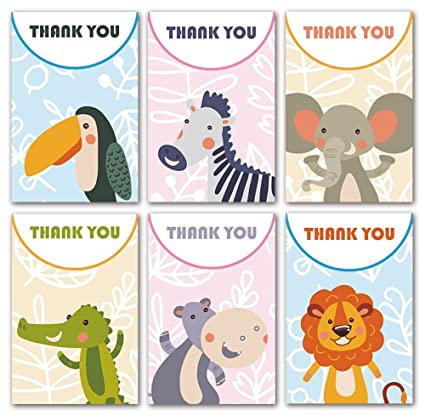 Amazon Com Baby Shower Thank You Cards 24 Count Thank You Notes