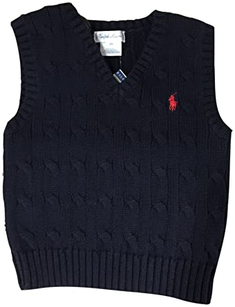 Amazon.com: Polo Ralph Lauren Baby Boys' Cable-Knit Cotton Sweater ...