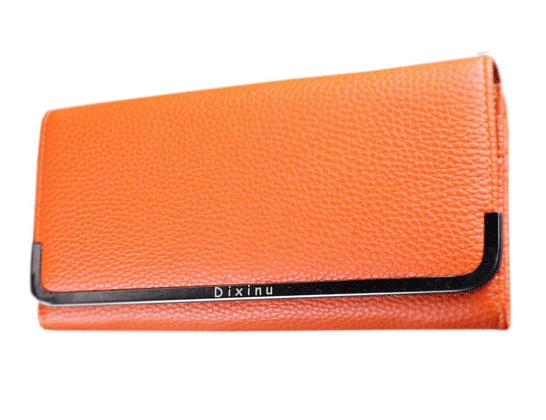 Zumeet Women's Texture Surface Hand Clutch Wallet With Metal Frame