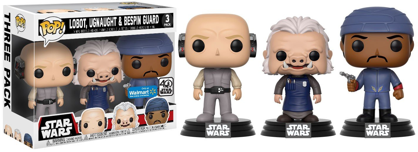 Funko Set 3/ Figurines Pop Star Wars Lobot Ugnaught and Bespin Guard Exclusive 14957