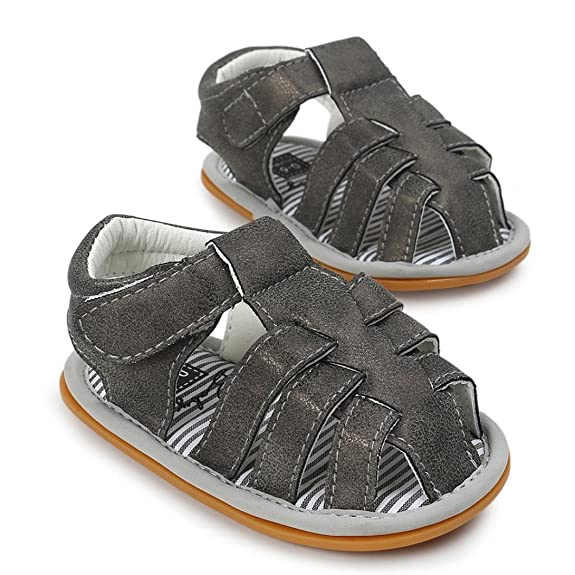 Huhua Sandals For Boys, Sandali bambini, Grigio (Gray), 6-12 Months