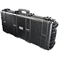 Nomis Military Gun Case 119 x 53 x 21cm Waterproof Dust-Tight Black Tough Durable with 2 Wheels